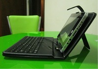 "Angela na  7"" android tablet pc Leather Case with keyboard ,tablet pc keyboard with 2 OTG cables and Capacitive Stylus"