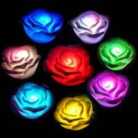 Free shipping 100pcs Best Gift  Electronic LED 7 Color Change Roses Novelty Lights/ night light /colorful led light