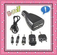 4-Port USB Hub Car Charger for Phone Nokia Sony Samsung #1311