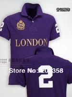 LONDON city model Men's Polo Shirts man polo Shirt Sz:S-XXL Brand New embroidery big logo shown