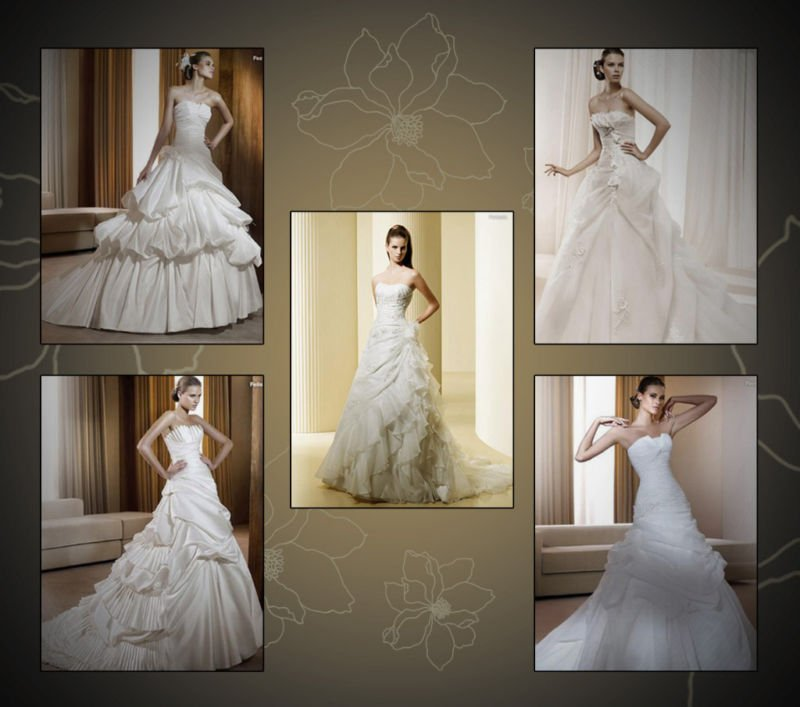 New satin Real Wedding Dress Bridal Gown+embroider sequin+ Free Shipping wholesale/retail(China (Mainland))