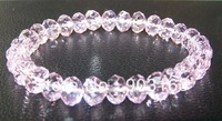 Wholesale 10Pcs Guaranteed 100% New Crystal Glass Beads Stretchy Bracelet Bangle + free shipping