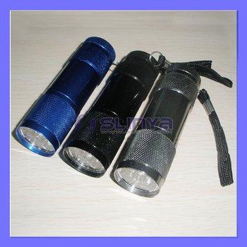 Highlight Alloy  Mini 9 LED Flashlight Torches