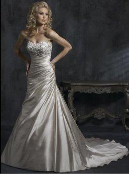 2015 New white/ivory wedding dress custom size US2-4-6-8-10-12-14-16-18