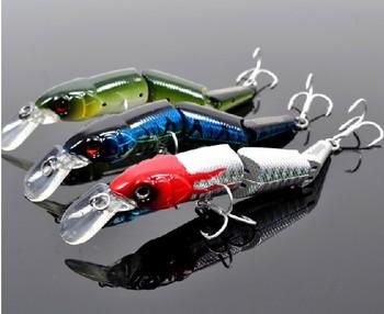 Free Shipping 3Pcs/Lot 3D Sea Fish shaped Fishing Lure Hard Bait Fishing Hook Fishhook Fishing Tackle 3 Styles