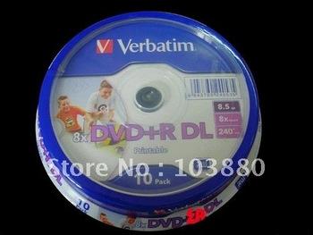 Wholesale Verbatim Printable DVD discs 8X DVD+R DL, 10pcs 8.5G Double-sided