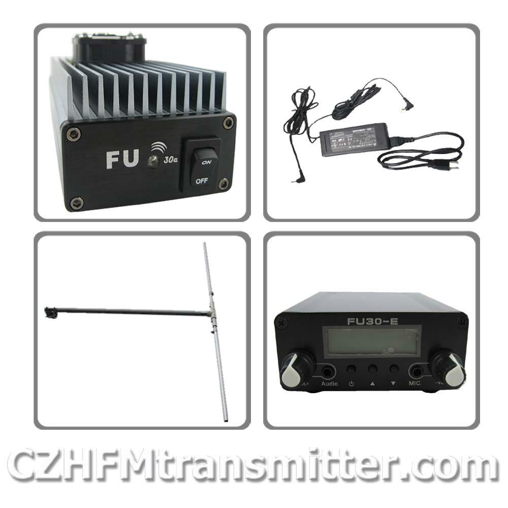 fmuser FU-30A Professional FM amplifier transmitter dp100 Dipole antenna kit(China (Mainland))