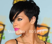 HOT SALE STYLE WIG 8inch #1 crop cut human hair lace wig