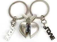 1pairs I love you gift keychain,couple voice keyholder
