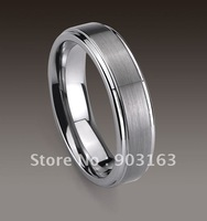 1pcs 6MM Guaranteed 100% New Tungen Ring Comfort Fit Wedding Band Ring By EMS shipping size 8