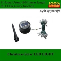 Solar tree light,JC01B 15M 90 led New Arrival Solar LED Light for Christmas light with DHL Free Shipping