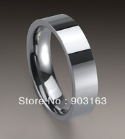 Wholesale 5PCS Best selling New Arrival Guaranteed 100% 6MM New Tungsten Carbide Even Wedding Band Ring free shipping Size 8