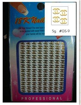 Free Shipping logo 3d nail sticker Label nail sticker nail art sticker