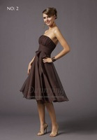 LF8002 New women's Free short prom gown Party Evening Dresses Brown US Size:0,2,4,6,8,10