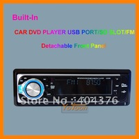 Single Din Detachable Front Panel CAR DVD/CD/MP3/USB/SD CARD AM/FM PLAYER+AUX INPUT