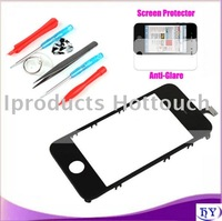 20pcs/lot Free shipping screen digitizer with frame for iphone 4g 4