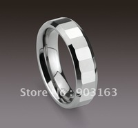 Wholesale 5pcs best selling Arrival Guaranteed 100% Tungsten Carbide Polished Polygon Wedding Band Ring Gift by EMS shipping