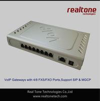 VoIP SIP Gateway with 8 FXO ports SIP/MGCP based, Asterisk trunk gateway, Elastix gateway PSTN/FXO