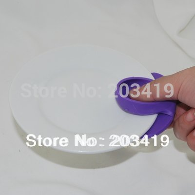 Minimum Order is $10 anti-hot heat resistance Saucer clip dish holder bowl tongs mulit color healthy safety tool for home(China (Mainland))