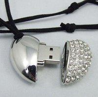 10pcs/lot A Heart OEM Jewelry USB Flash Drive2GB/4GB/8GB/16GB USB disk drive 100% Real capacity freeshipping