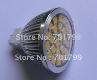 24 pcs SMD 5050 led spotlight;MR16 base;350-370lm;cool white;AC/DC12V