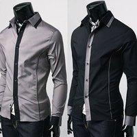 Free Shipping New Mens Shirts Casual Slim Fit Stylish Mens Dress Shirts 1718
