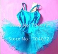 Gymnastics Leotard Ballet Dress for Children Wholesale -free Shipping.blue Color ,10 Pcs/lot, Tutu Children' Dress Girls Fairy