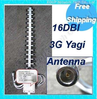 Free Shipping 16dBi 802.11b/g Wifi Directional High Gain 3G Yagi Antenna N Female Connector