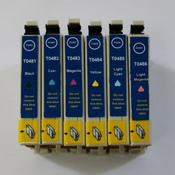 ink cartridge T0481/T0482/T0483/T0484/T0485/T0486 for Epson Photo R200/R220/R300/R320/R340/RX500/RX600 printer(1set)wholesale(China (Mainland))