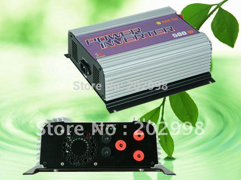 500W Grid Tie Power Inverter,Dump Load Controller,For 3 Phase 12V 24V Wind Turbine,AC/DC 10.8v-30V to AC 90v~130V(China (Mainland))