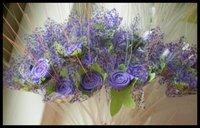 free shipping: Artificial purple Rose Wedding Decoration home decoration 100pcs/lot,8 colors