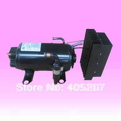 DC 12/24v compressor for truck sleeper construction mining machine ship cab air conditioning system(China (Mainland))
