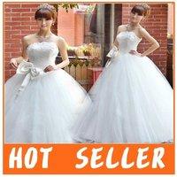 Freeshipping !! 2011 New Arrival Big  Bowknot Gorgeous Princess wedding gowns/wedding dress/bridal dress
