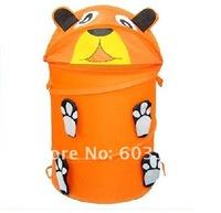 Free Shipping,5pcs/lot, laundry basket,Folding,Cartoon storage,Waterproof,Toy basket-pooh-J029,Mixed wholesale,38*45cm