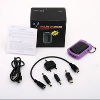 Portable Universal Solar energy Torch USB Charger for MP3 MP4 PDA PSP Camera iPhone 4 4S, LED Light,  Free Shipping