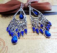 Fashion imitate gemstone women alloy earring(2color mix) FE-76