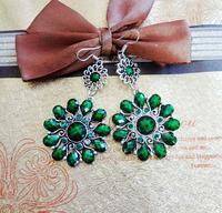 Fashion  flower style vintage alloy  women earrings(3color mix)