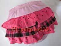 50pcs Wholesale- Cute I love baby short pants New fashion pants Baby Ruffle Bloomer 50pcs mixed models