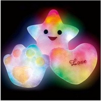 50 pcs/lot mix designs Colorful Lucky Type Led Pillow Romantic Star / love heart / palm Pillow valentine's day holiday gifts