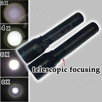 5pcs/lot freeshipping Adjustable Zoom 3W LED lamp light aluminum Flashlight Torchlight by 1*AA batteries