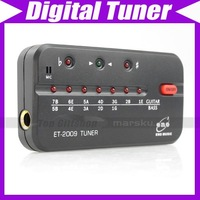 Blk Digital Guitar Bass Tuner 440Hz w/ Battery ET-2009 V1347