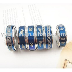 Stainless steel jewelry ring tungsten steel rings 36pcs/lot free shipping(China (Mainland))
