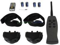 (For 2 dog)Vibration + 6-Level Static Shock Anti-bark Multi-Functional Dog training shock collar  *Free shipping * * 10pcs/lot