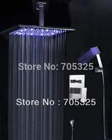 "8"" LED Shower Head Bathroom Rainfall Shower Complete Faucet Shower Set Z159"