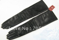 NEW! women's genuine leather black long gloves wholesale&retail winter mittens gift for girl,mother