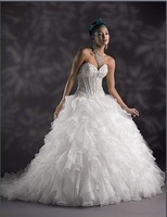 Free Shipping Best Selling Sweetheart Beaded Wedding Dresses any size/color wholesale/retail