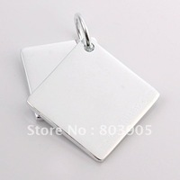 FreeShipping/wholesale,925 SILVER PENDANT,925 pendant,hotsale925 jewelry,two sheets pendant,Pdt063