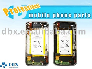 For iPhone 3GS Back Cover Housing with Bezel Frame and Battery full set Assembly Black or White color Free shipping