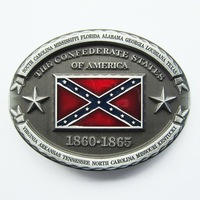 Wholesale Retail America Southern Confederate Rebel Flag Belt Buckle Factory Direct Fast Delivery Free Shipping