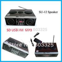 Mini Boombox SD Card Reader Classical Nostalgia Wooden Player Remote Control Speaker Sound Box FM Radio Mp3 PC Mobile Speaker